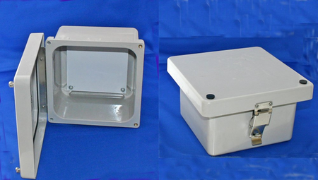 Bud Industries NFL-6630 - NEMA 4X Enclosures-NF series-NEMA Fiberglass Enclosure-L8 X W8 X D5