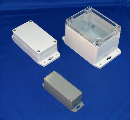 Bud Industries PN-1329-CMB - NEMA 4X Enclosures-PN series-Plastic NEMA 4X With Mounting Brackets-L9 X W6 X D3