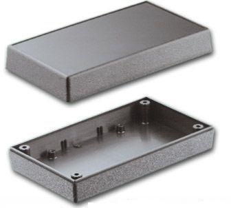 Bud Industries PS-11543-G - Plastic Boxes-PBS series-Plastibox Style F Textured body with smooth top-L6 X W3 X D2
