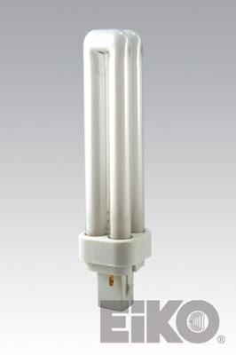 Eiko QT18/35 18W Quad-Tube 3500K G24D2 Base Fluorescent - Cf Lamps