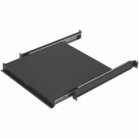 Lowell RSD-116 Rack Reversible Sliding Shelf/Drawer-1U Black