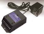 Lowell RYPS-1A Relay Module-Powered-5A 24VDC 1-DPDT Relay 5in L x 3.28in W Power Supply with 4 plug adaptors