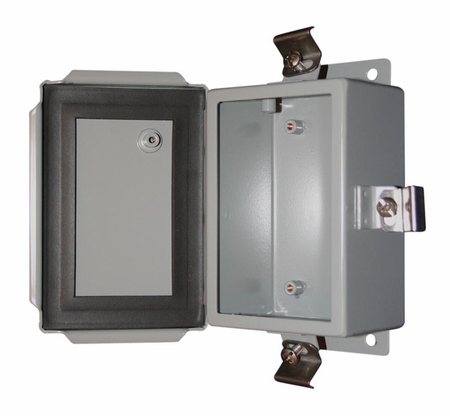 Bud Industries SN-3706 - NEMA 4X Enclosures-SN series-NEMA 4X Sheet Metal Boxes-L14 X W12 X D6