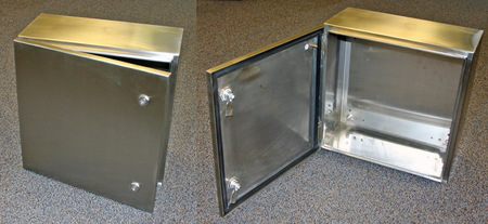Bud Industries SNB-3739-SS - NEMA 4X Enclosures-SNB series-NEMA 4X Stainless Steel Boxes-L8 X W8 X D4