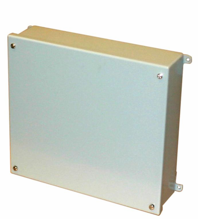 Bud Industries SNC-3755 - NEMA 4 Enclosures-SNC series-NEMA Sheet Metal Box With Lift-off Screw Cover-L16 X W12 X D6