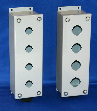 Bud Industries SPB-3904 - Push Button Boxes (Steel)-SPB series-Metal NEMA Enclosures-L10 X W3 X D3