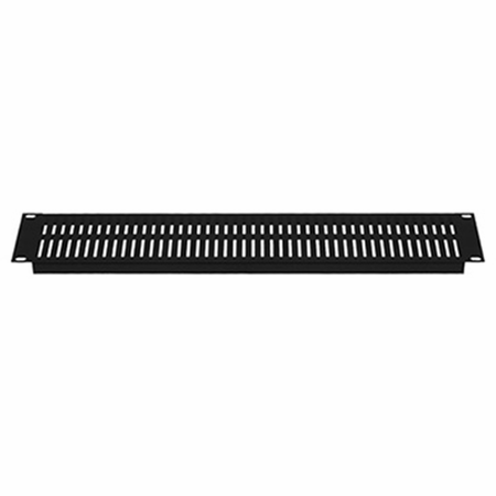 Lowell SVSP-1 Rack Panel-Vented-1U 18ga Flanged Slotted Steel Black