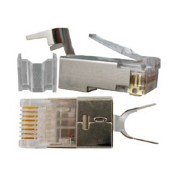 West penn 106192 cat6a plug with external groud bag of 50 for Cat 6 esterno