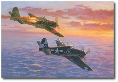 4 of 5 on the 6th by Roy Grinnell (F6F Hellcat)