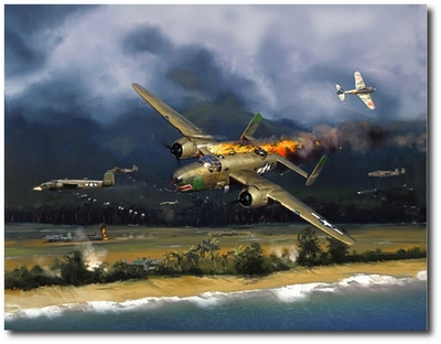 405th Bomb Squadron Mission to Dagua by Jack Fellows (B-25 Mitchell)