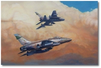481st Huns in the Sun by Darby Perrin (F-100 Super Sabres)