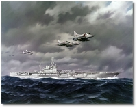 A-4s Over USS America, CVA-66 by R.G. Smith