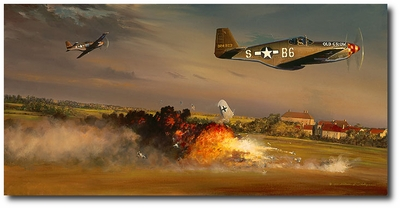 A Bandit Goes Down by William S. Phillips (P-51 Mustang)