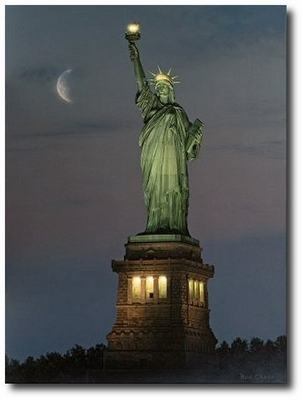 A Beacon of Hope by Rod Chase (Statue of Liberty)