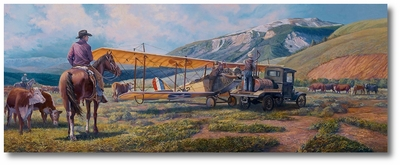 A Horse of a Different Color - A New-found Freedom by Rick Herter (Curtiss JN-4)