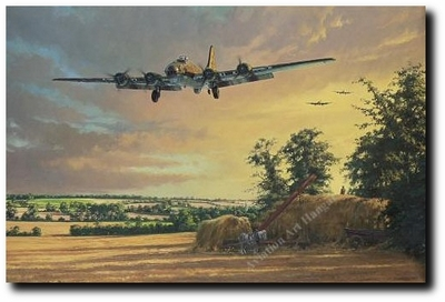 A Welcome Return by Anthony Saunders (B-17 Flying Fortress)