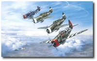 A Wolfpack Salute by Roy Grinnell (P-47 Thunderbolt)