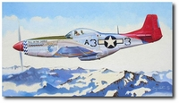 Above the Alps by Troy White (P-51 Mustang)