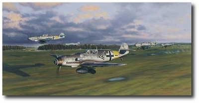 Adler Schwarm by Jim Laurier (Bf-109)