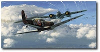 Against All Odds by Philip West (Spitfire, Dornier)