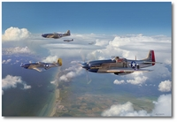 Almost Home by Jim Laurier (P-51 Mustang)