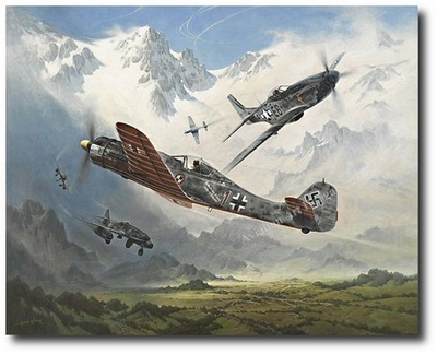 Ambush! by Heinz Krebs (Fw190 D-9, Me262, P-51)