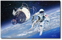 America's First Space Walk - Gemini IV by Mark Karvon