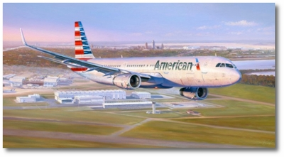 An American First by Rick Herter (Airbus A-321)