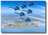 Angels Over Annapolis by Sam Lyons (FA-18 Hornet)
