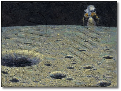 Armstrong Heads Beyond the Boulders by Alan Bean (Apollo XI)