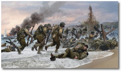 Assault on Omaha Beach by Simon Smith