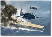 Attack on the Akagi - Midway by R.G. Smith