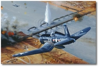 Attack on the Yalu Bridges by Philip West (F4U Corsair)