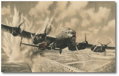 Attacking the Sorpe Dam by Richard Taylor (Lancaster)