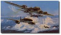 Combat Over the Reich by Robert Taylor (B-17 & Me-262)