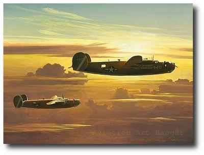 Dawn of the Liberators by William S. Phillips (B-24)