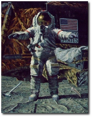 The Hammer and the Feather by Alan Bean (Apollo)