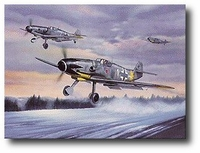 The Knight at Dawn by Jerry Crandall (Bf109)