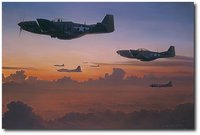The Long Ride Home by William S. Phillips (P-51 Mustang)