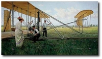 The Wrights at Huffman Prairie by Gil Cohen (Wright Flyer)