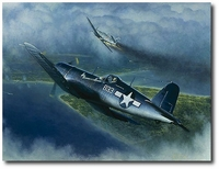 Those Clouds Won't Help You Now by William S. Phillips (F4U Corsair)