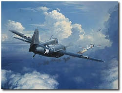 When You See Zeros, Fight 'Em by William S. Phillips (F4F Wildcat)