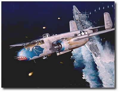 Bats Out of Hell by Jack Fellows (B-25 Mitchell)