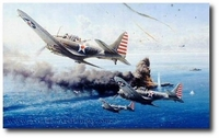 Battle of the Coral Sea by Robert Taylor (SBD Dauntless)