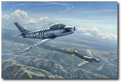 Beauty and the Beast by Ronald Wong (F-86 & MiG-15)