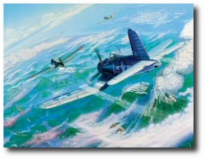 BIG HOG Above Bagana by Joseph Szady (F4U)