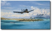 Black Sheep at Munda by Jim Laurier (F4U)