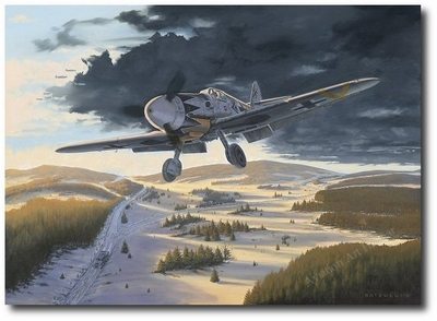 Black Tulip on Final by Brian Bateman (Me109 - Hartmann)