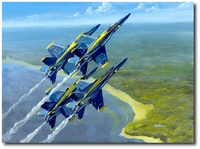 Blue Skies by Bryan David Snuffer (FA-18 Hornet)