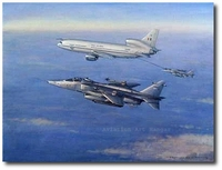 Blue Sword over Bosnia by Ronald Wong (Jaguar & TriStar K.MK 1)